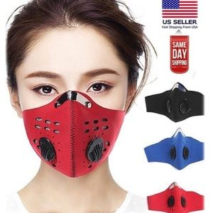 Unisex Sports FaceMask with Filter and  Respirator
